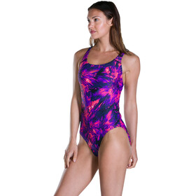 speedo FlyingFlash Allover Powerback Badpak Dames roze/violet